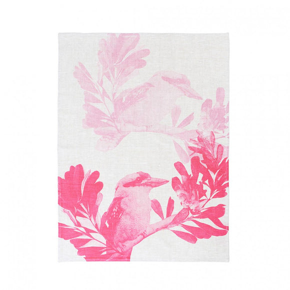 Tea Towel - Kookaburra Pink