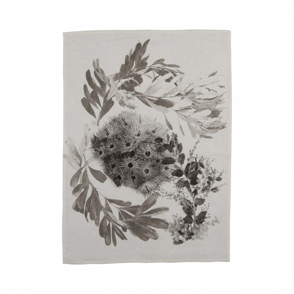 Tea Towel - Flowering Gum Black