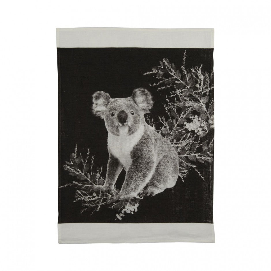 Tea Towel Koala Black