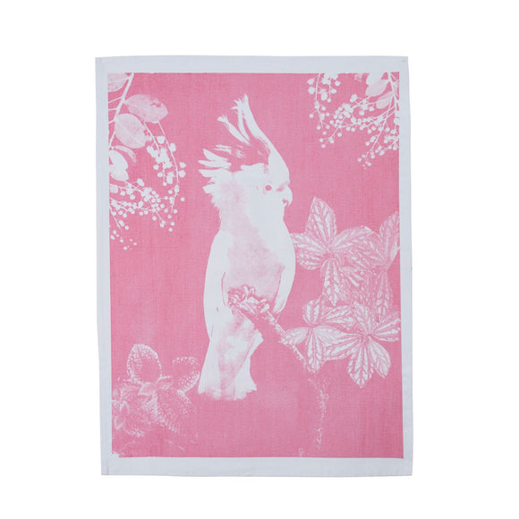 Tea Towel Big Major Dusky Pink Cotton
