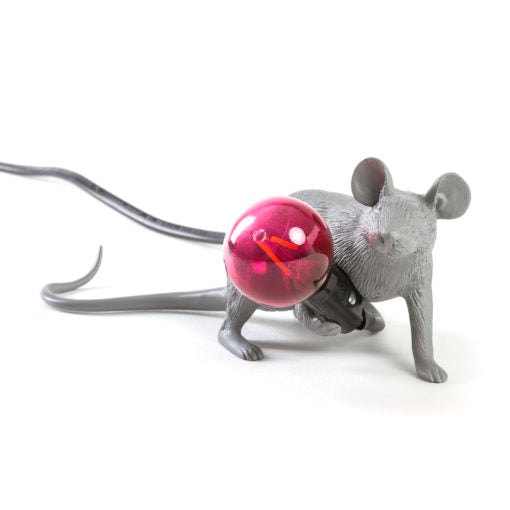 Mouse Lamp Grey Lying Down