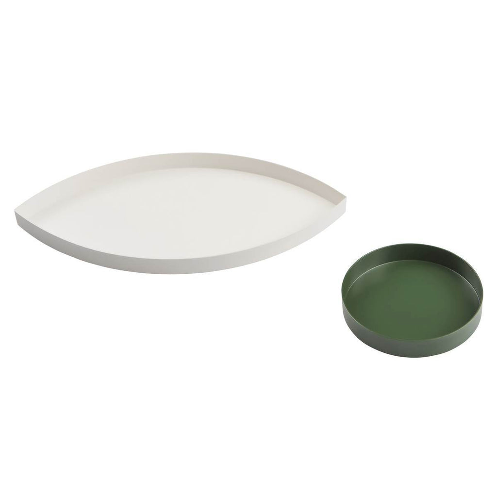 Tray Set | The Eye | Metal | White & Green