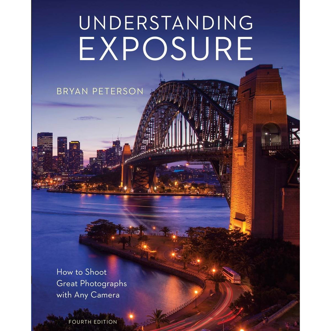 A book cover with a cover photograph of the Sydney harbour bridge lit up in the evening.