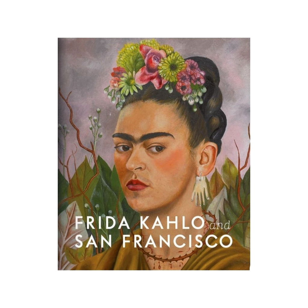 Book cover featuring a painted portrait of Frida Kahlo
