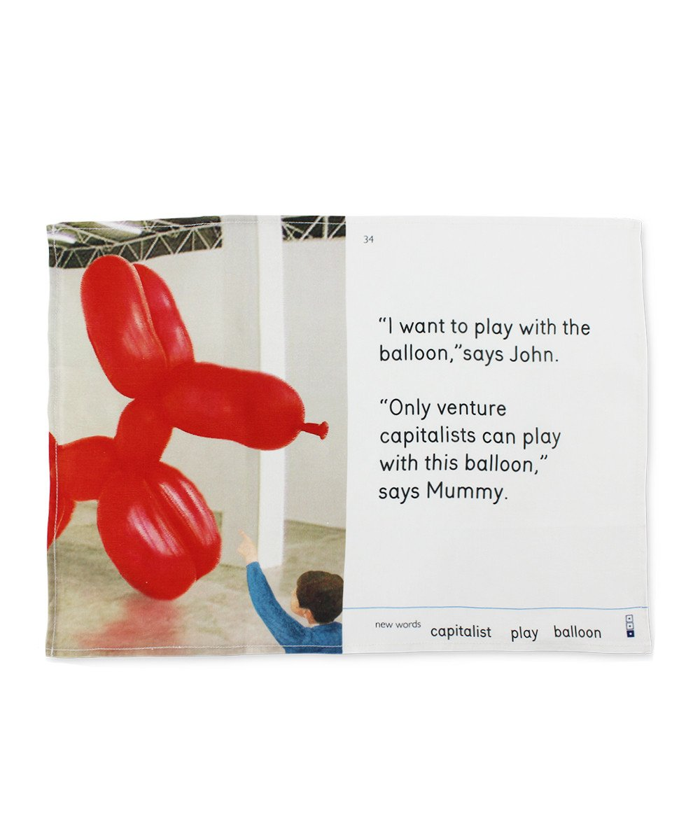 Tea Towel - Play With the Balloon X We Go To The Gallery