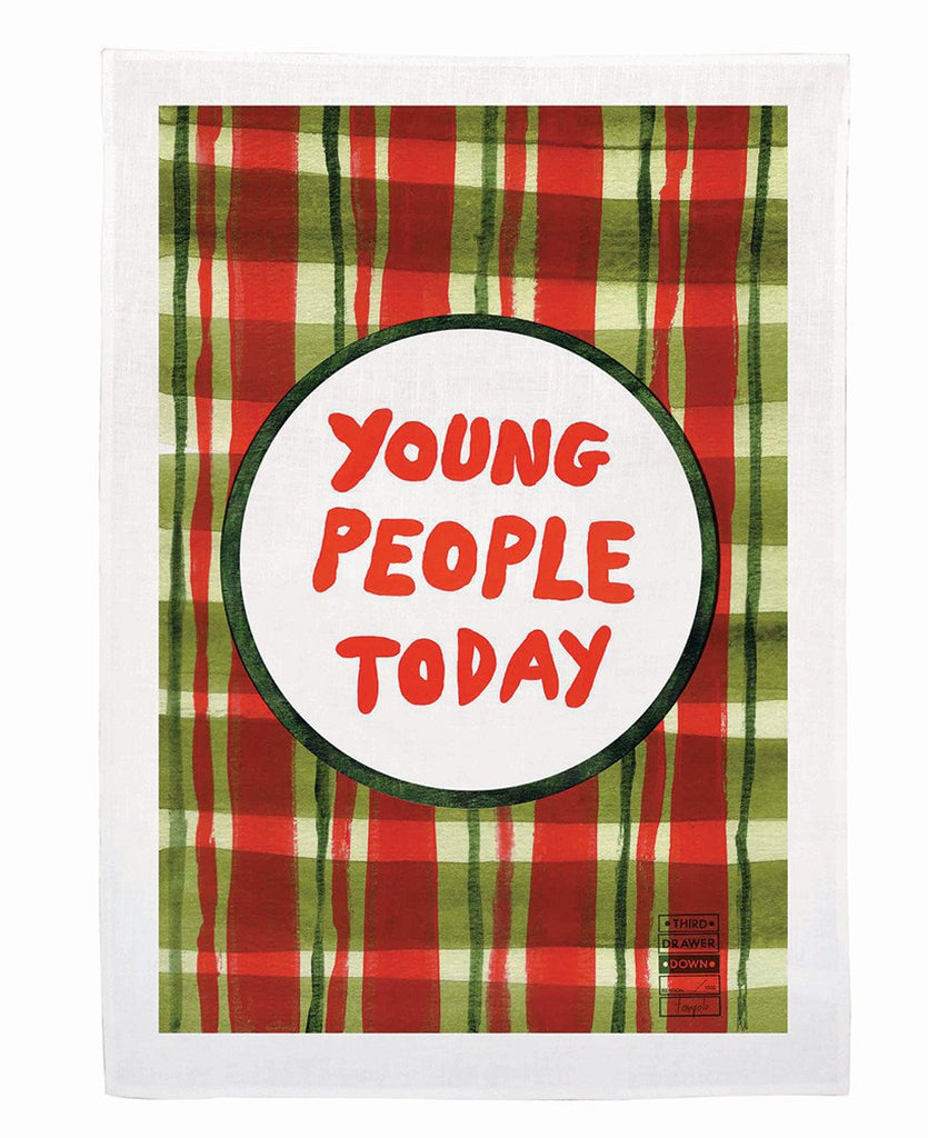 Tea Towel - Young People Today X Tom Polo