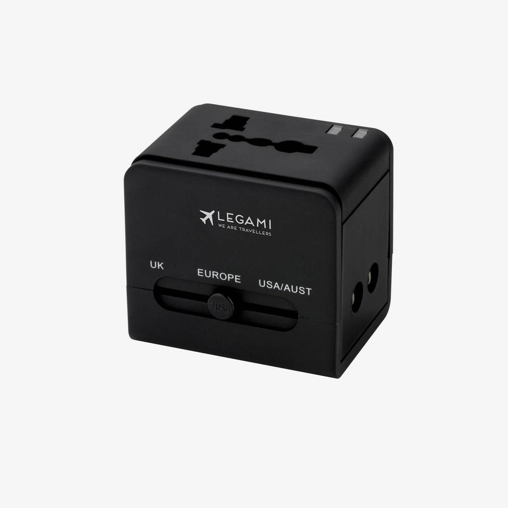 Universal Travel Adaptor in a black colour