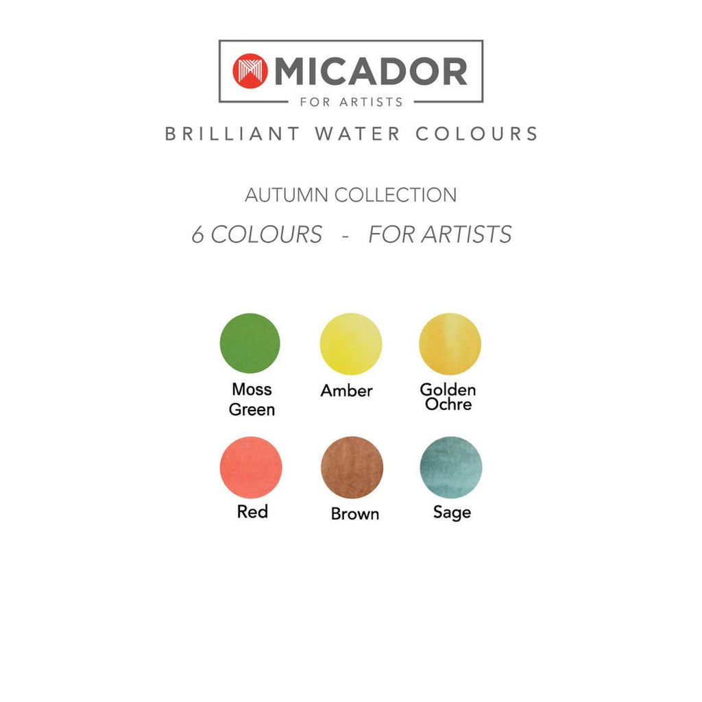 Brilliant Watercolour Paint Disc | Autumn Colours