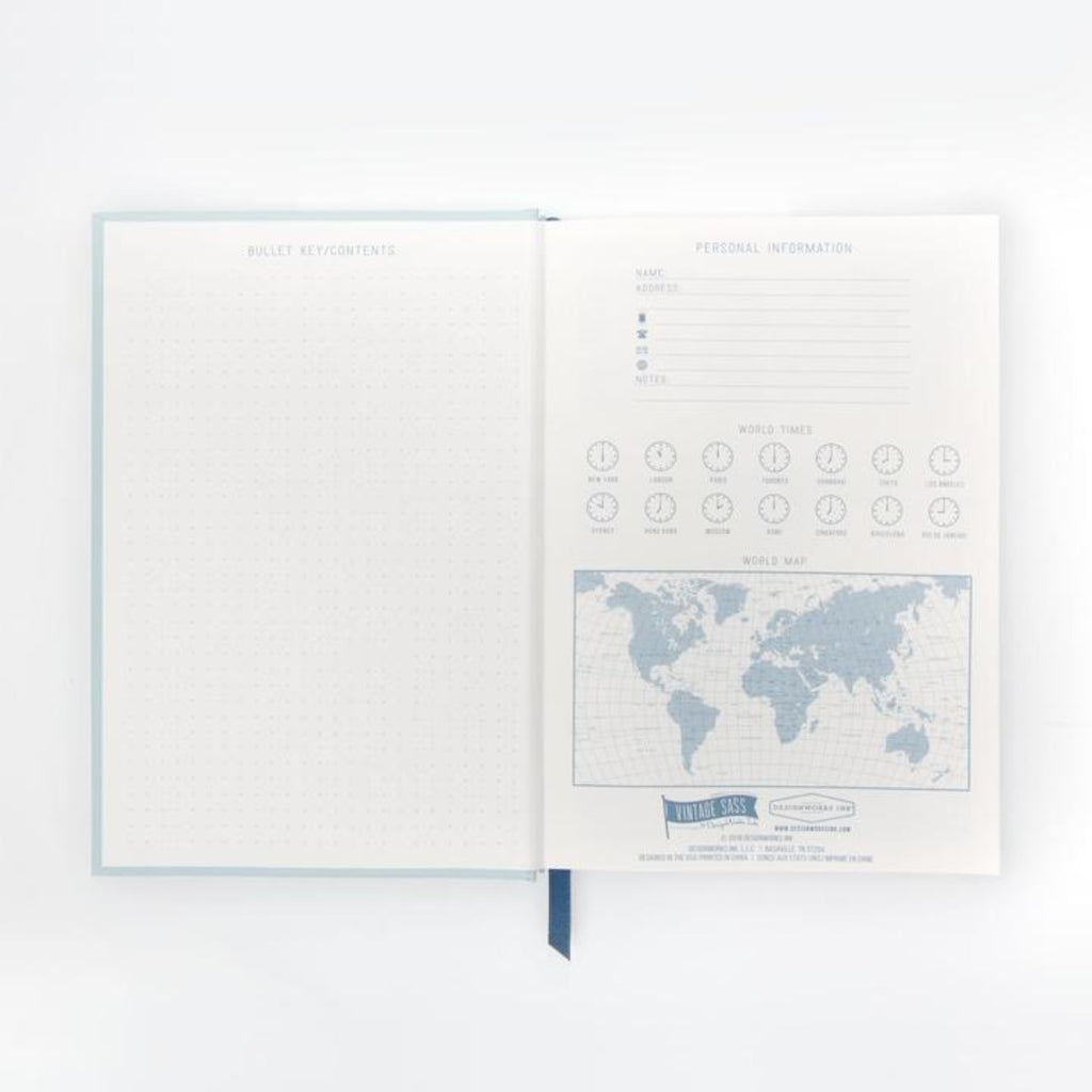 Hardcover Notebook Dam It | Blue