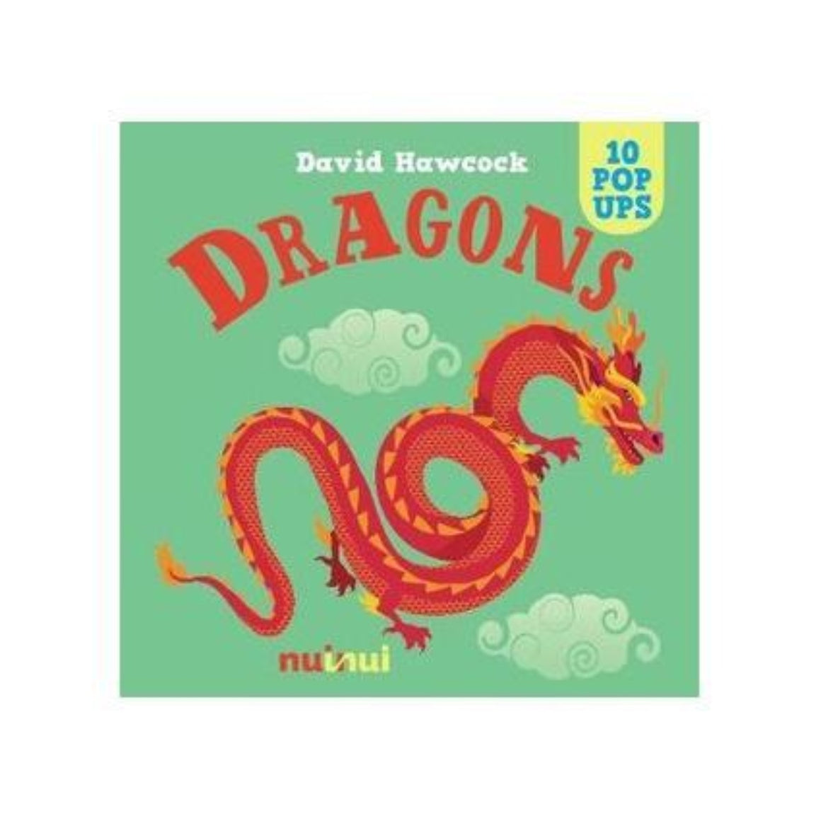 Book cover featuring a green background with a graphic illustration of a traditional red chinese dragon