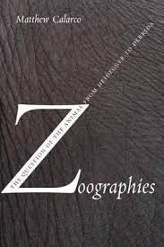 Book featuring cover art of Zoographies: The Question of the Animal from Heidegger to Derrida