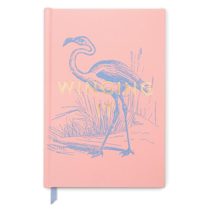 Hardcover Notebook Pink Winging It