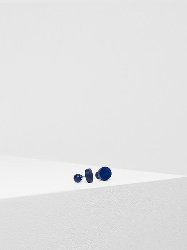 Earrings Paz Stud Navy Blue
