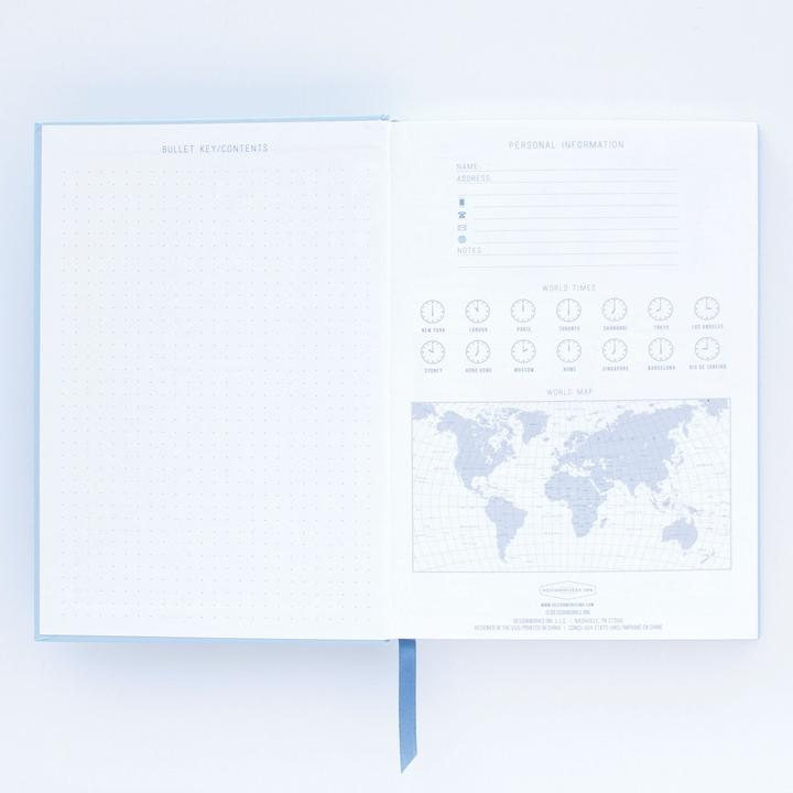 Hardcover Notebook Embrace The Day | Lavender