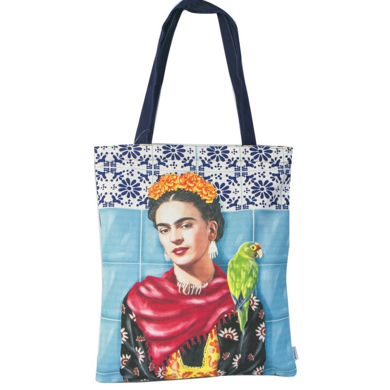Tote Bag featuring Frida Kahlo and Parrot