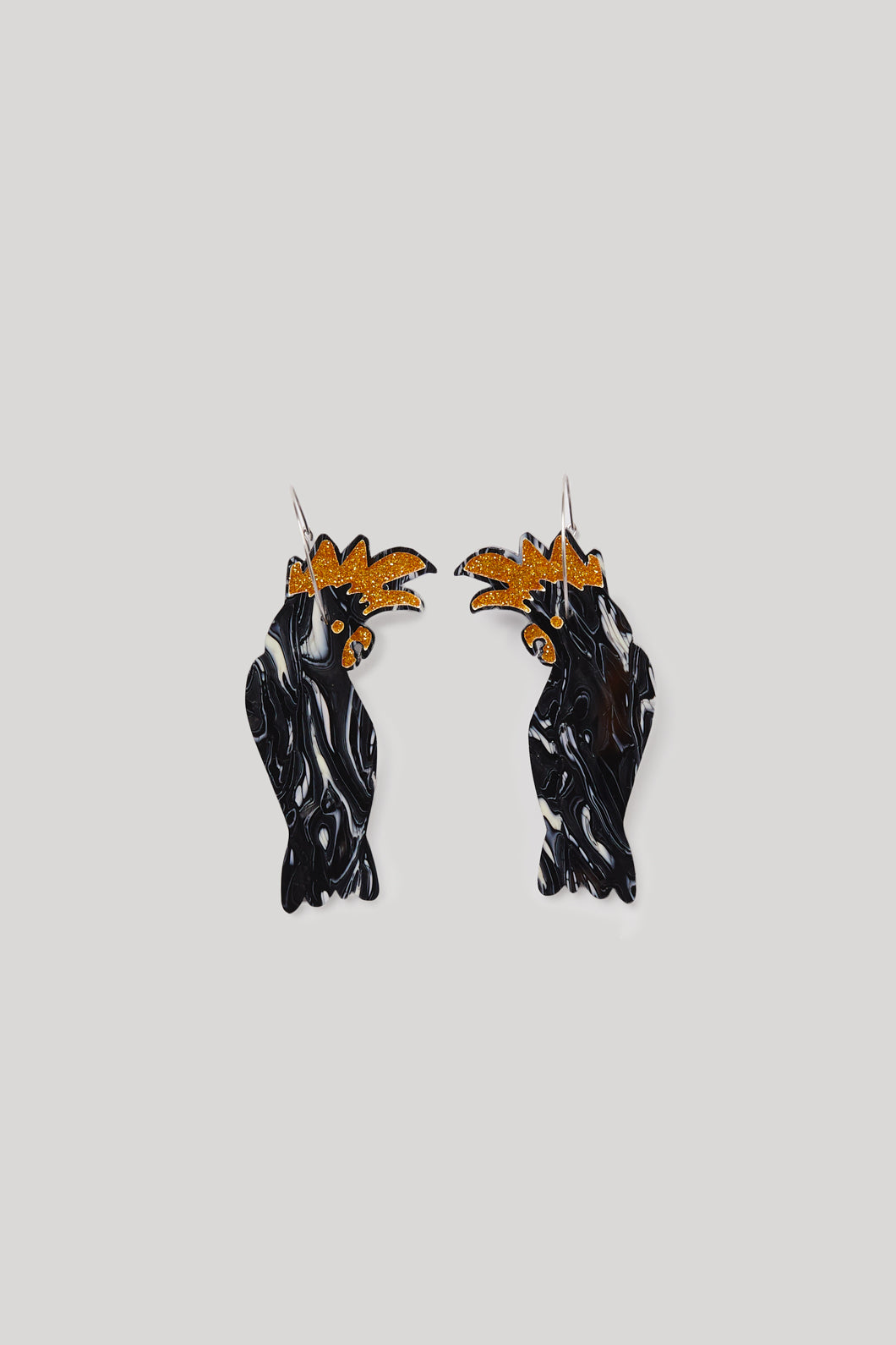 Earrings Flamin Galah Black