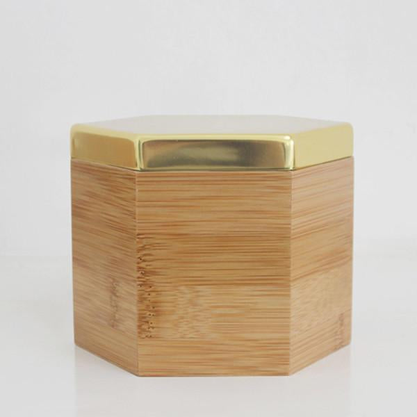 Hex Box Gold Tall