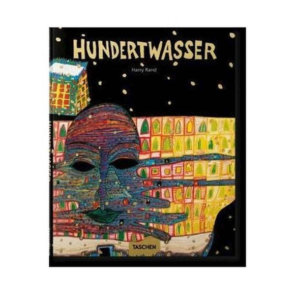 Book featuring cover art of Hundertwasser