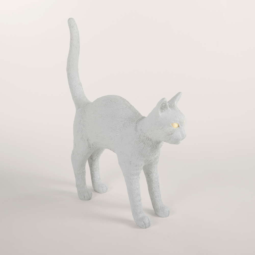 Jobby the Cat Lamp White