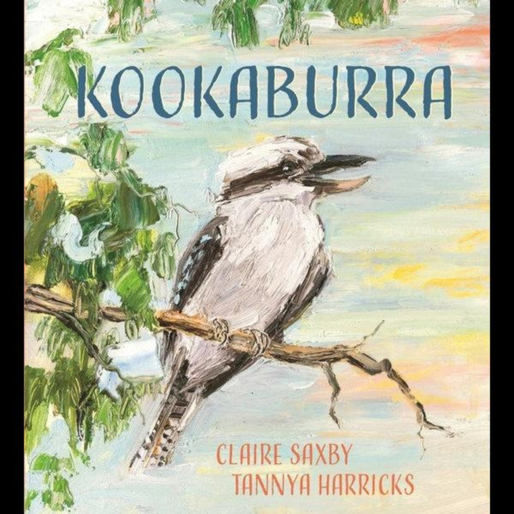 Book cover featuring a painting of a tree and a kookaburra in the middle