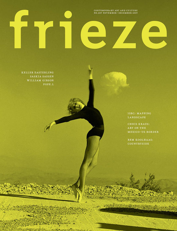 Magazine Cover featuring Issue 207 November 2019 Frieze Magazine