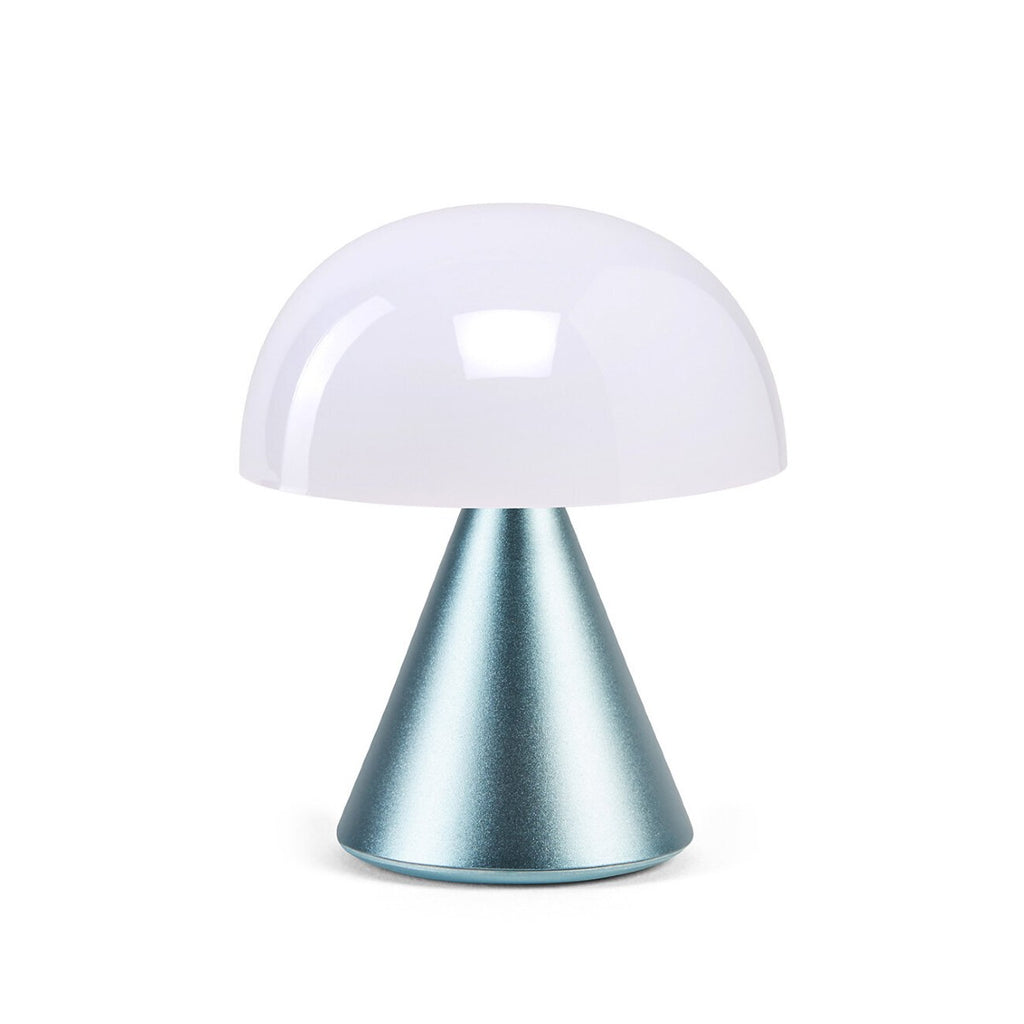LED Lexon Lamp featuring light blue base