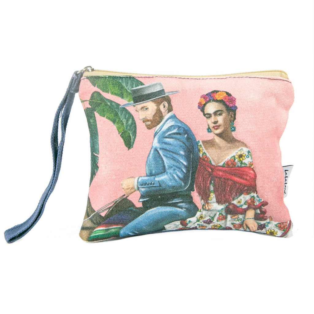 Clutch Purse featuring vincent  van gogh, plants and frida kahlo
