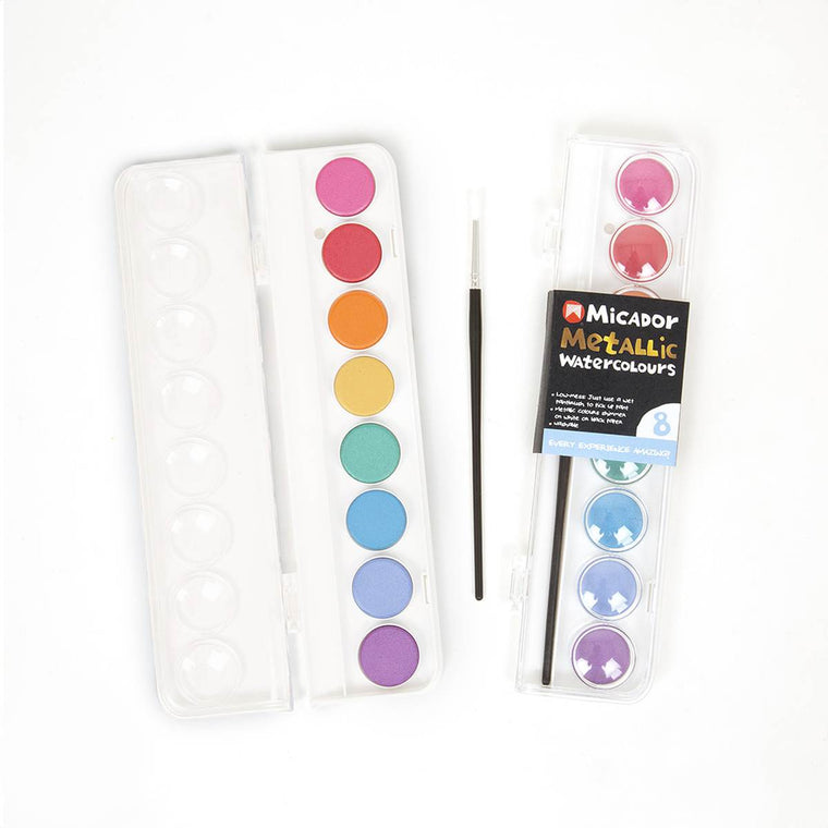 Metallic Watercolour Paints | Palette of 8