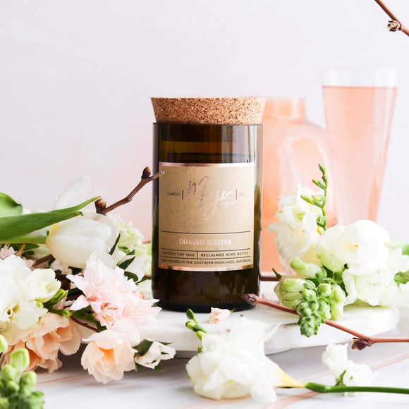 Reclaimed Wine Bottle Candle | Shanghai Blossom Mother's Day Limited Edition