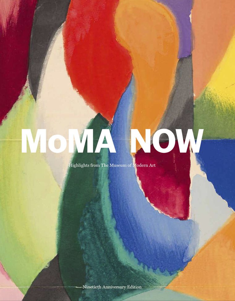 Book featuring cover art of MoMA NOW