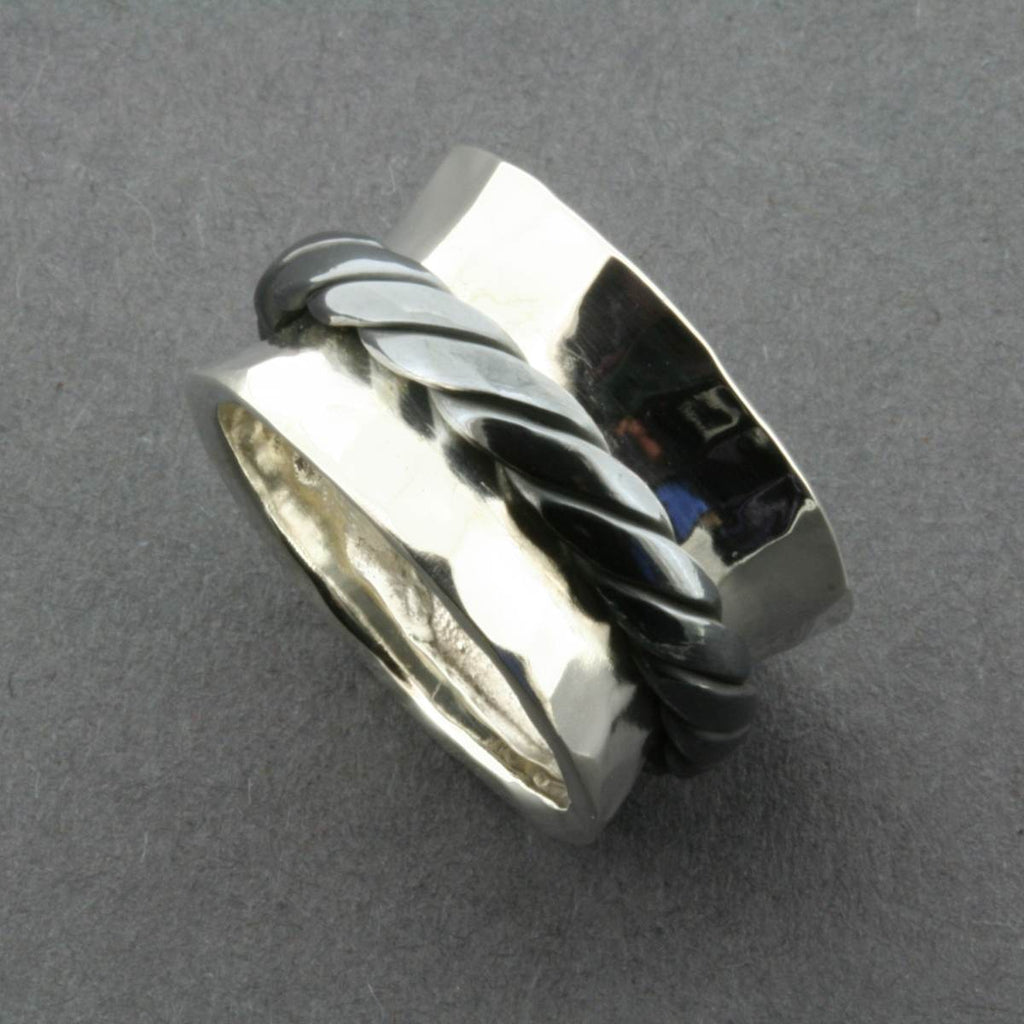 Silver Ring | Oxidized Rope Spinner