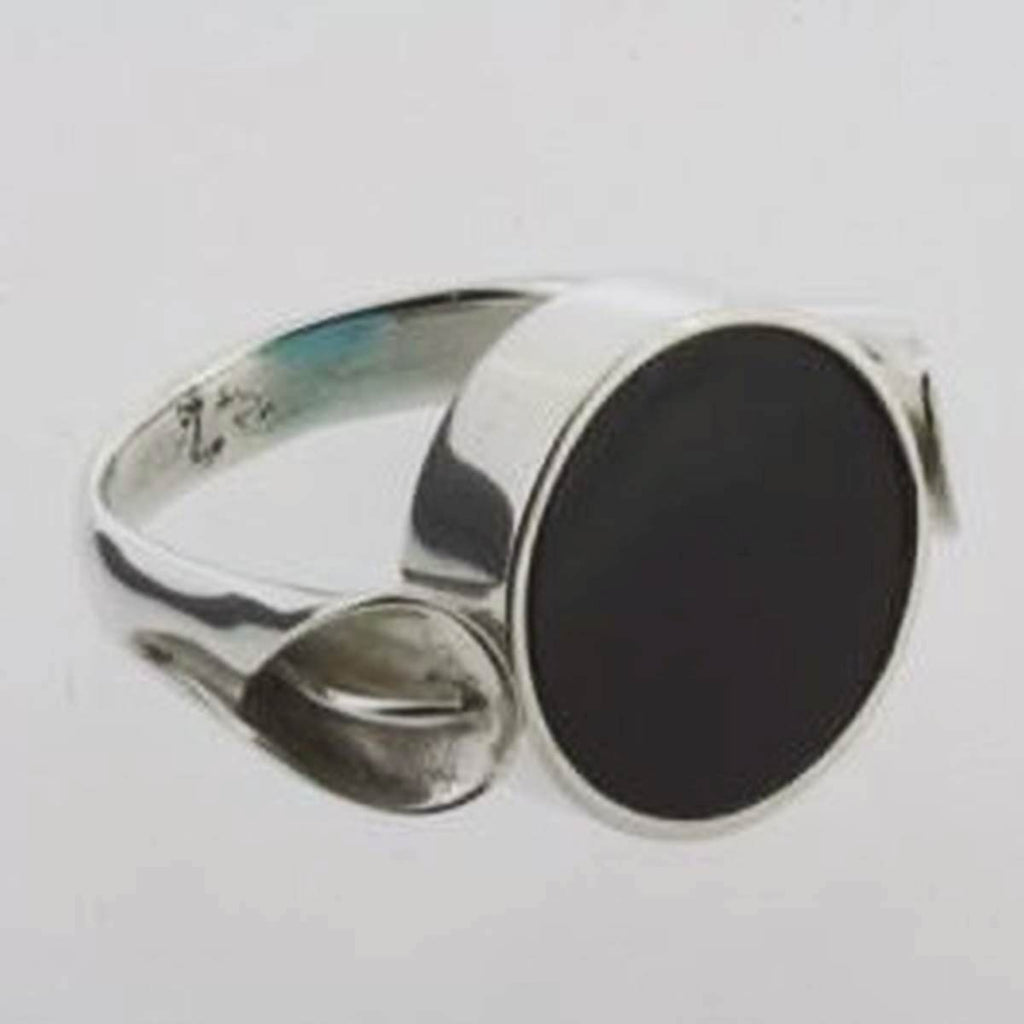 Ring | Sterling Silver & Black Obsidian & Turquoise | Flip