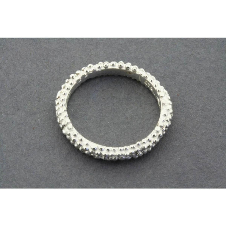 A refined Sterling Silver band with a 'bubbly' surface texture