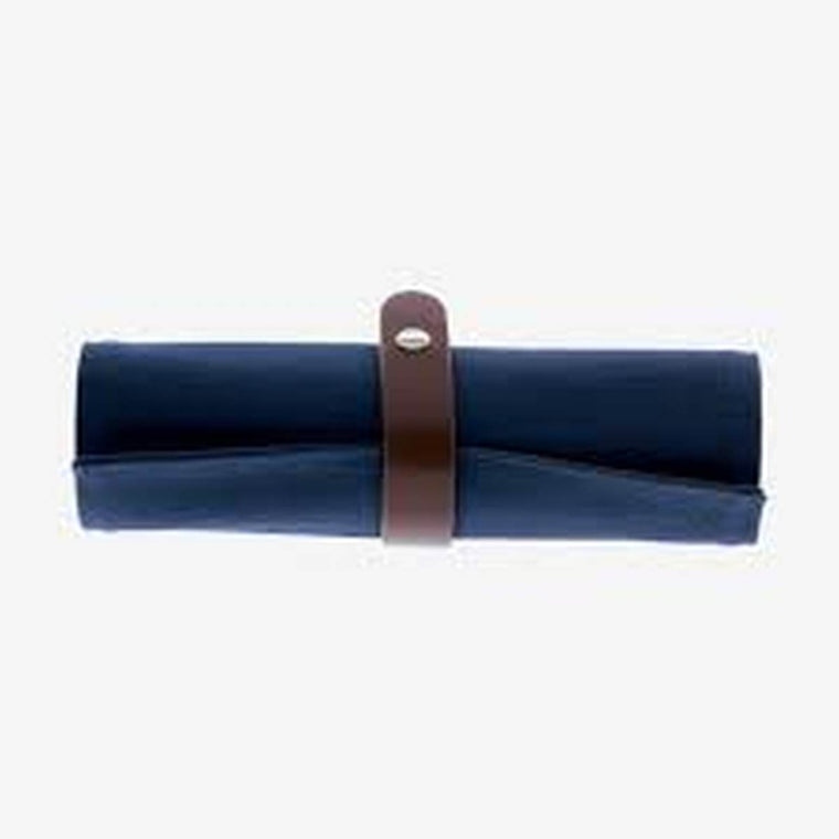 Artist Style Pencil Case | Roll Up Pouch | Blue & Grey