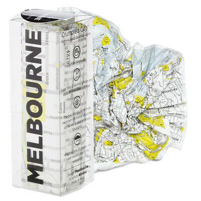 Crumpled Map in Box featuring Melbourne City