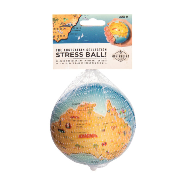 Stress Ball Australia in their packaging including the words The Australian Collection: Stress Ball!
