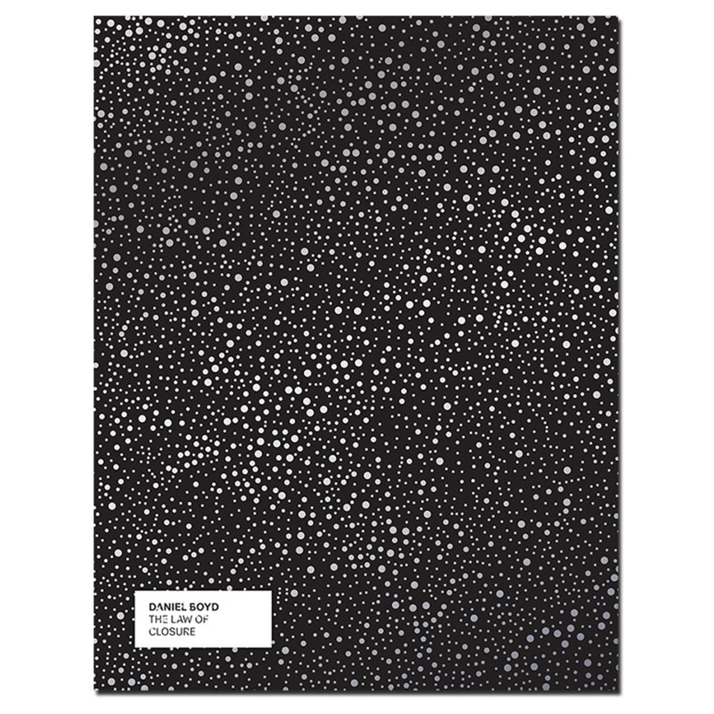 Book cover featuring a black background with white spots all over it