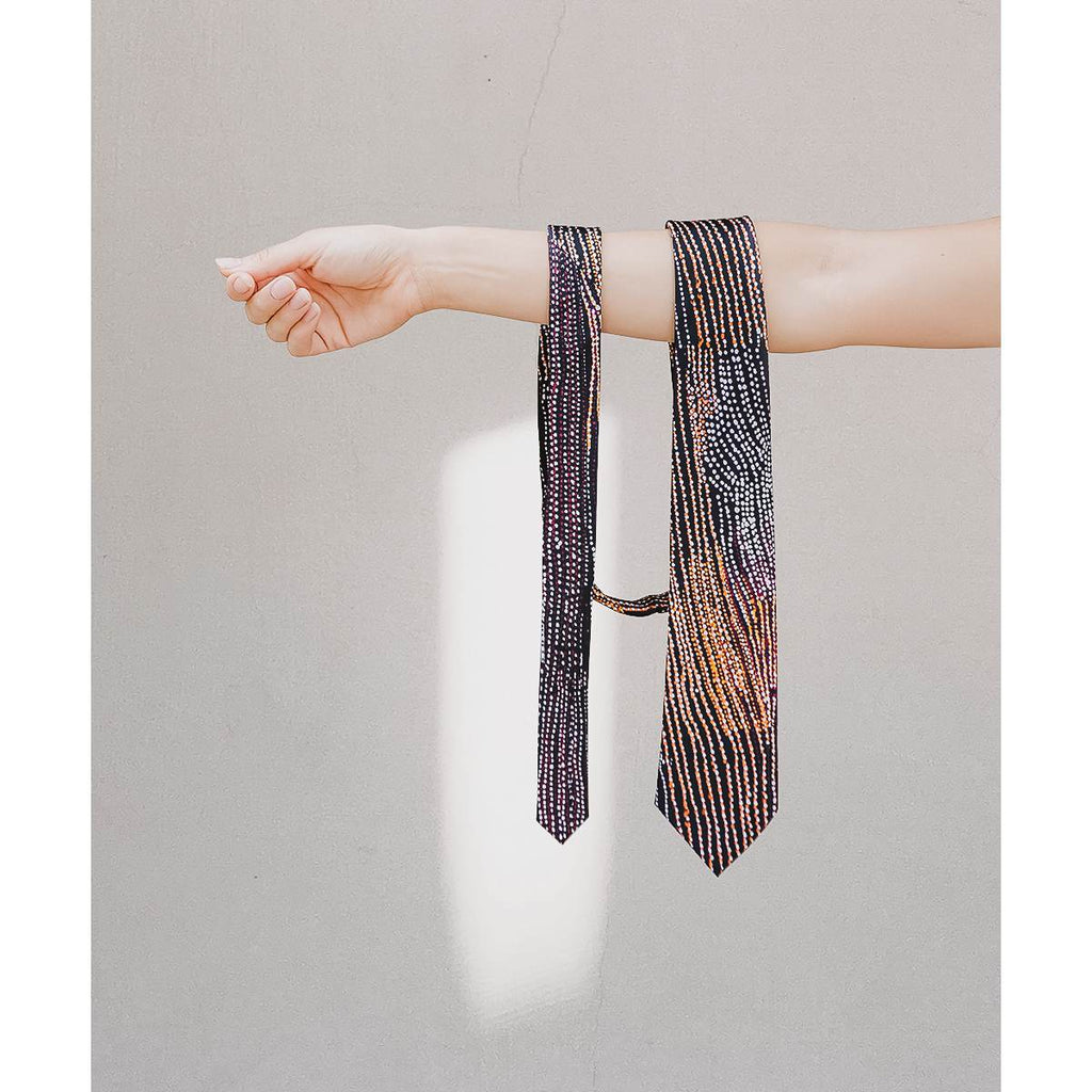 Silk Tie | Waran by Minyawe Miller | One of Twelve