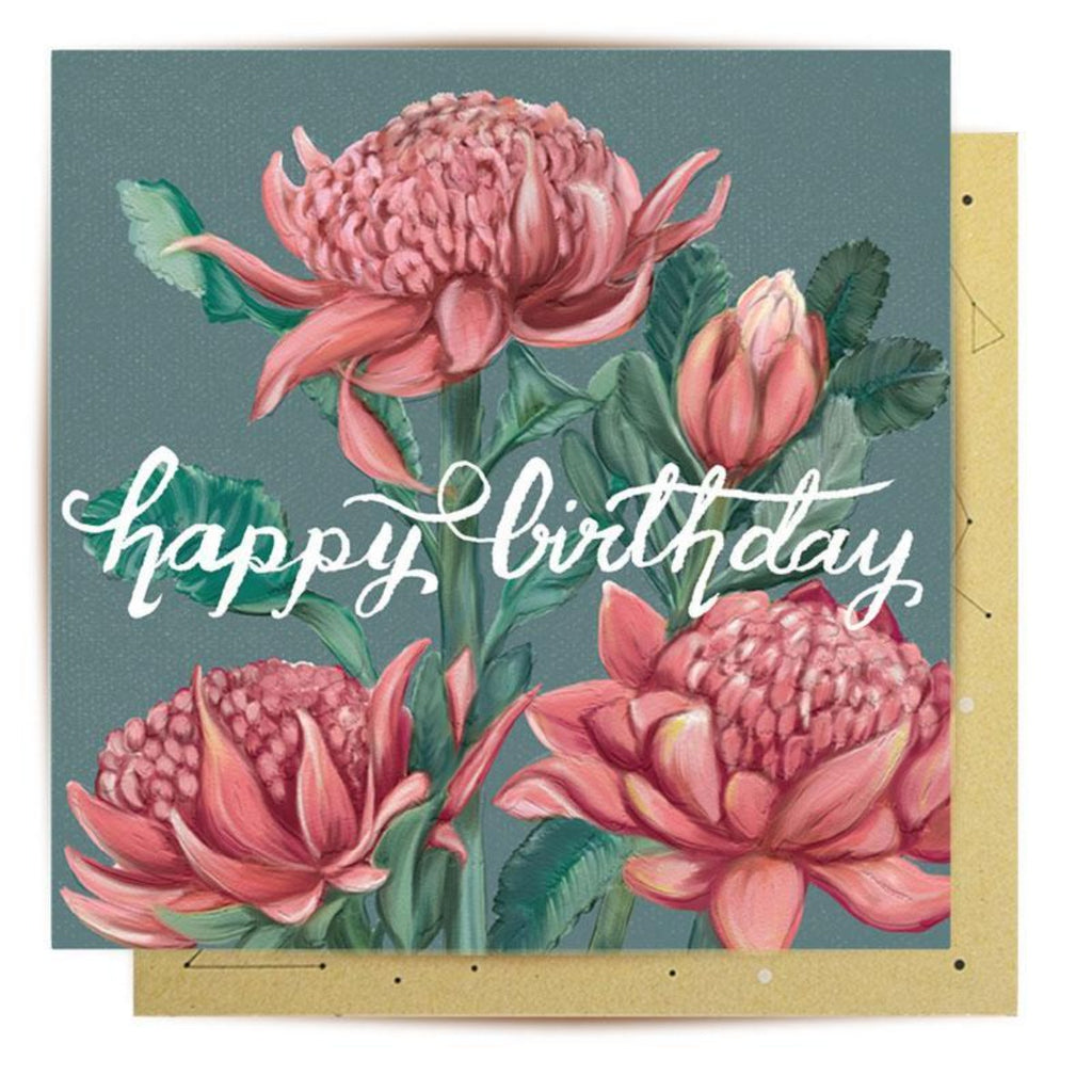 Greeting Card | Waratah | Birthday