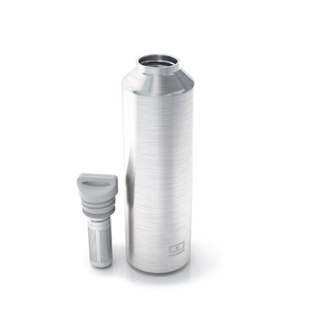 Water Bottle | Insulated Monbento MB Steel | Silver | 500ml