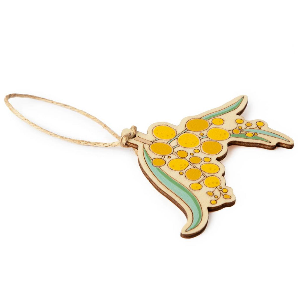 Ornament | Hand Painted | Wattle