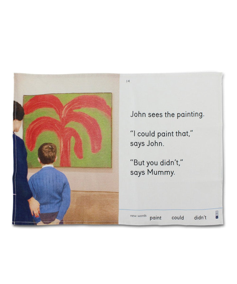 Tea Towel -  John Sees the Painting x We Go to the Gallery