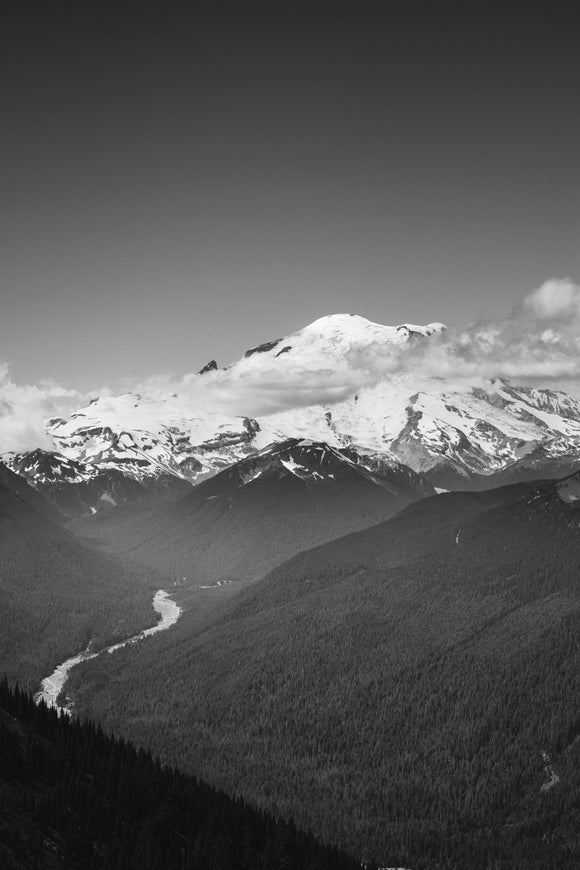 Mt. Rainier - B&W - JOA Photography & Prints