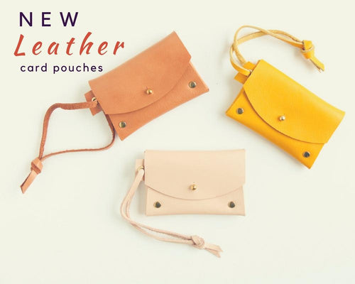 Our new 'must have' accessories - NZ made leather card pouches