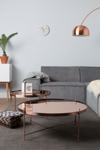 Copper Coffee And Side Table ...