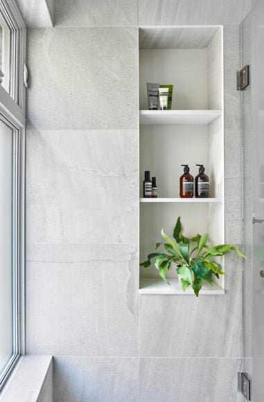 Cotton & Clay - Open Storage Cube in bathroom
