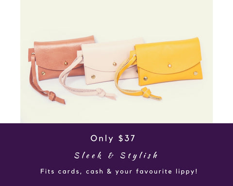 Cotton & Clay Leather Card Pouches Only $37