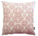 Facet Cushion Cover - Nude Pink on White