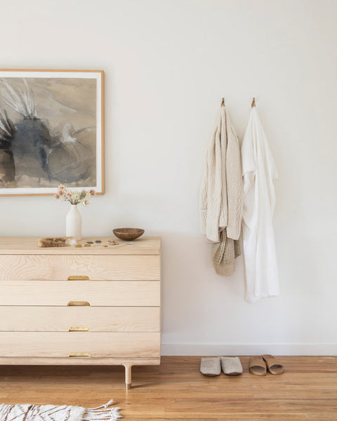 Cotton & Clay - The Art of Warm Minimalism - Wooden Furniture in Bedroom