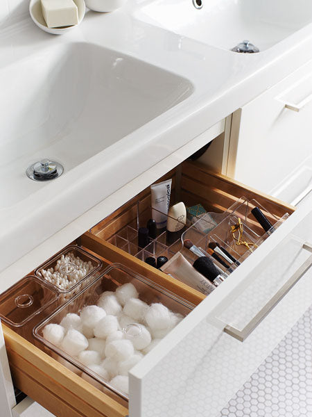 Cotton & Clay - Bathroom makeup drawer organiser